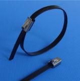 Schwarze Belüftung-überzogene Edelstahl-Flügel-Verschluss-Kabelbinder