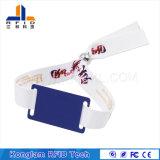 Wristband trenzado modificado para requisitos particulares de la escritura de la etiqueta de una sola vez RFID para los conjuntos del recorrido