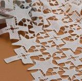 Merletto di Tulle del ricamo di alta qualità, tessuto francese del merletto con doppio colore