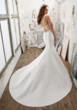 2017 Satin Deep-V Bridal Wedding Dresses Wd506