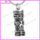 Ijd8186 Wholesale Engels-Hundeverbrennung-hängenden Halsketten-Antike-Zylinder-Aschen-Andenken-Speicher-Halter-Urne-Charme
