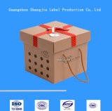 Rectángulo de regalo acanalado de empaquetado del cartón