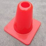 Cone alaranjado da segurança de tráfego da estrada do PVC de 6 polegadas