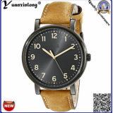 Relógio de pulso luxuoso da forma do negócio feito sob encomenda novo do couro do relógio de pulso do Mens do relógio de quartzo do encanto da chegada Yxl-476