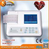 Máquina marcada Sun-8012 del Portable ECG de Digitaces del solo canal del Ce
