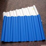 Folha plástica ondulada revestida da telhadura da cor material Unbreakable do fornecedor de China