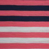 100%Cottonヤーンによって染められる縞の粗紡糸ジャージー
