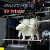 Da impressão profissional do baixo preço 3D da impressora do estábulo 3D de Ecubmaker PLA plástico do ABS