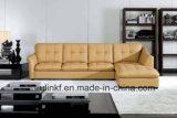 Sofà domestico di legno del salone del cuoio della mobilia (UL-NS204)