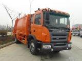 Caminhão de lixo 10tons do compressor de Euro4 180HP 6wheel LHD JAC