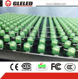 Solo módulo al aire libre arriba brillante de la visualización de LED del verde