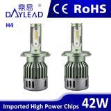 Hi/Loのビームとの防水48W 4800lm H4 Ledheadlight