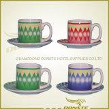 Керамическая новая кружка кофеего Китая косточки цветастая