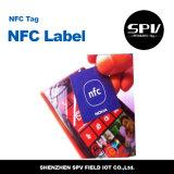 Tag impresso Ntag215 de Nfc do papel revestido