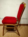 cadeira Stackable de Bnaquet do ferro do frame do metal 1.5tickness