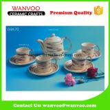 Jeu de thé moderne de jeu de café de porcelaine de modèle traditionnel avec des cuvettes et des soucoupes