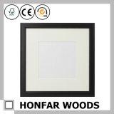 Frame de retrato de madeira do retângulo do preto da decoração da parede