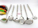 Herramientas redondas de la cocina del PCS de la maneta 6 del acero inoxidable (FT-04211)