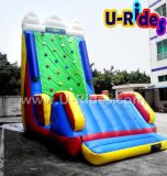 Blue Inflatable Water Rock Climbing Wall for Seashore