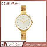 Reloj clásico del cuarzo de las señoras de la época del acero inoxidable del estilo