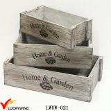 Плантатор Brown затрапезной шикарной коробки сбор винограда отмелой деревянный
