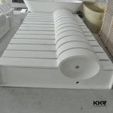Kkr подгоняло белую твердую поверхностную акриловую каменную раковину ванной комнаты