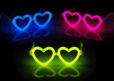 Eyeglasses do fulgor do coração do amor das fontes do partido do vestido extravagante