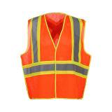 Veste fluorescente reflexiva do engranzamento da segurança da visibilidade elevada