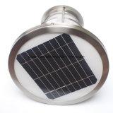 Lumière solaire de poteau d'amarrage d'acier inoxydable de 1 mètre 8 DEL