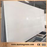 Laje projetada branca da pedra de quartzo para Tabletops, bancadas e revestimento da parede