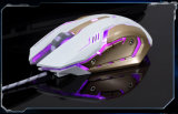 セリウム、RoHSの証明書の高精度多彩なLED 6Dによってワイヤーで縛られるUSBの光学コンピュータの賭博マウス(M-73)