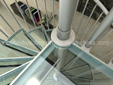 Alumínio DIY Spiral Stairs Antislip Glass Tread Modular Glass Staircase Kits