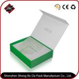 Rectángulo verde caja de embalaje de papel para cosmética