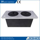 Panel-Typ Aluminiumlegierung-Tischplattenkontaktbuchse mit Universalkontaktbuchse