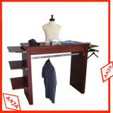 Vestuário portátil de madeira Suportes de exibição de trilhos para roupas suspensas
