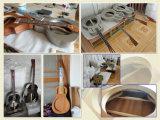 Ukulele de Hawaii con los instrumentos musicales del resonador del Ukulele del orificio de F