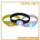 Fluorescenza morbida su ordinazione Slicone Wrisband (YB-HD-01) dell'indicatore luminoso bianco dei monili LED di modo