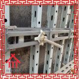 Molde de corte de montagem da parede do aço com a uma vez que derrama o molde concreto