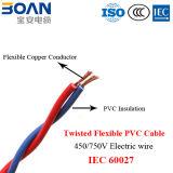 ツイスト適用範囲が広いケーブル、電気ワイヤー、450/750V、IEC 60227