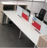Divisória reta moderna do escritório de equipe de funcionários com pé do metal