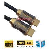 High Speed с кабелем заплетения HDMI раковины металла Nylon