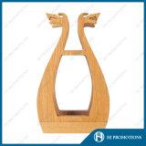 Vino de madera caja de exhibición de la botella (HJ-PWTY01)