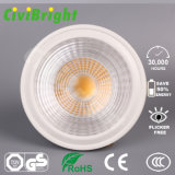 Venta caliente LED blanco natural regulable COB Spotlight GU10