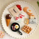 Whosale de comida tipo de resina turísticos imán de frigorífico para la decoración del hogar