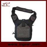 Les militaires en nylon de sac d'épaule de vitesse tactique combattent le sac noir