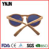 Таможня Ynjn высекает логос круглое деревянное Sunglass