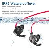 Ruido sin hilos de los receptores de cabeza de Bluetooth Earbuds Bluetooth del deporte que cancela los auriculares con la atracción magnética (negro ligero)
