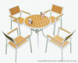 Mobilia di legno di alluminio esterna moderna poco costosa della barra del randello del caffè del patio delle presidenze e della Tabella