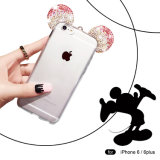 Kasten-Handy-Fälle der Diamant Mickey Ohr-TPU für iPhone 6/6plus