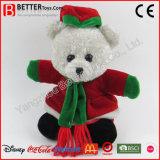 Oso relleno juguete seguro de la Navidad de la felpa para el cabrito